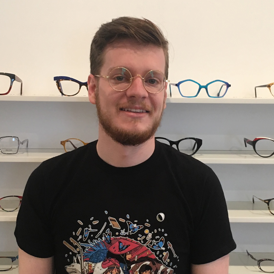 Tim in genuine vintage frames